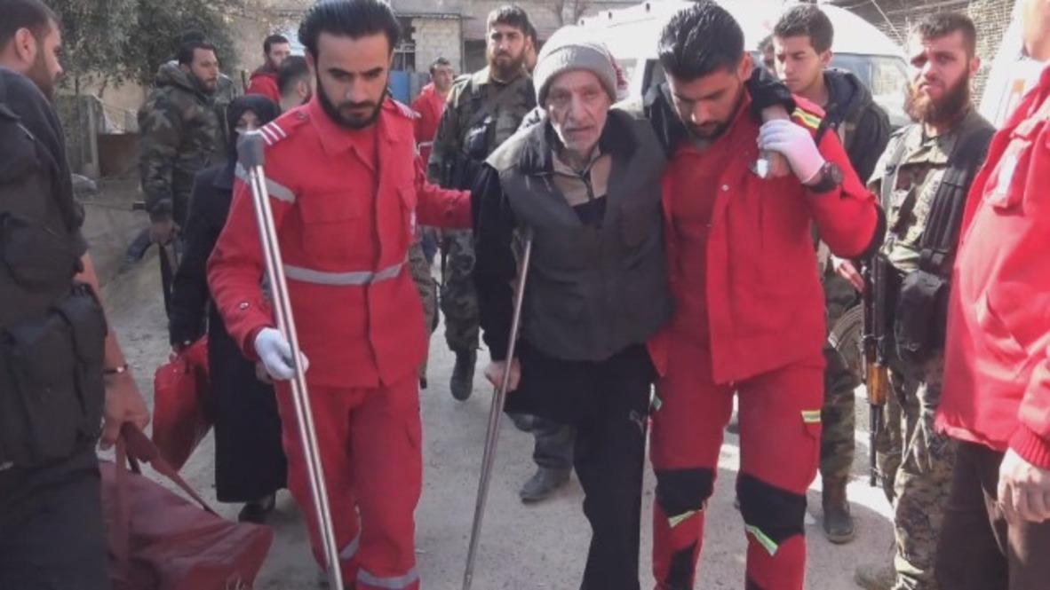 Syria: Civilians leave E. Ghouta's Douma through humanitarian corridor