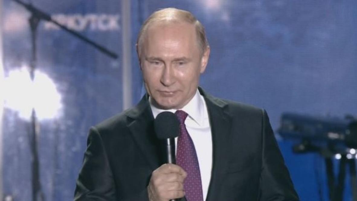 Russia: Putin congratulates Sevastopol on 'return to homeland'