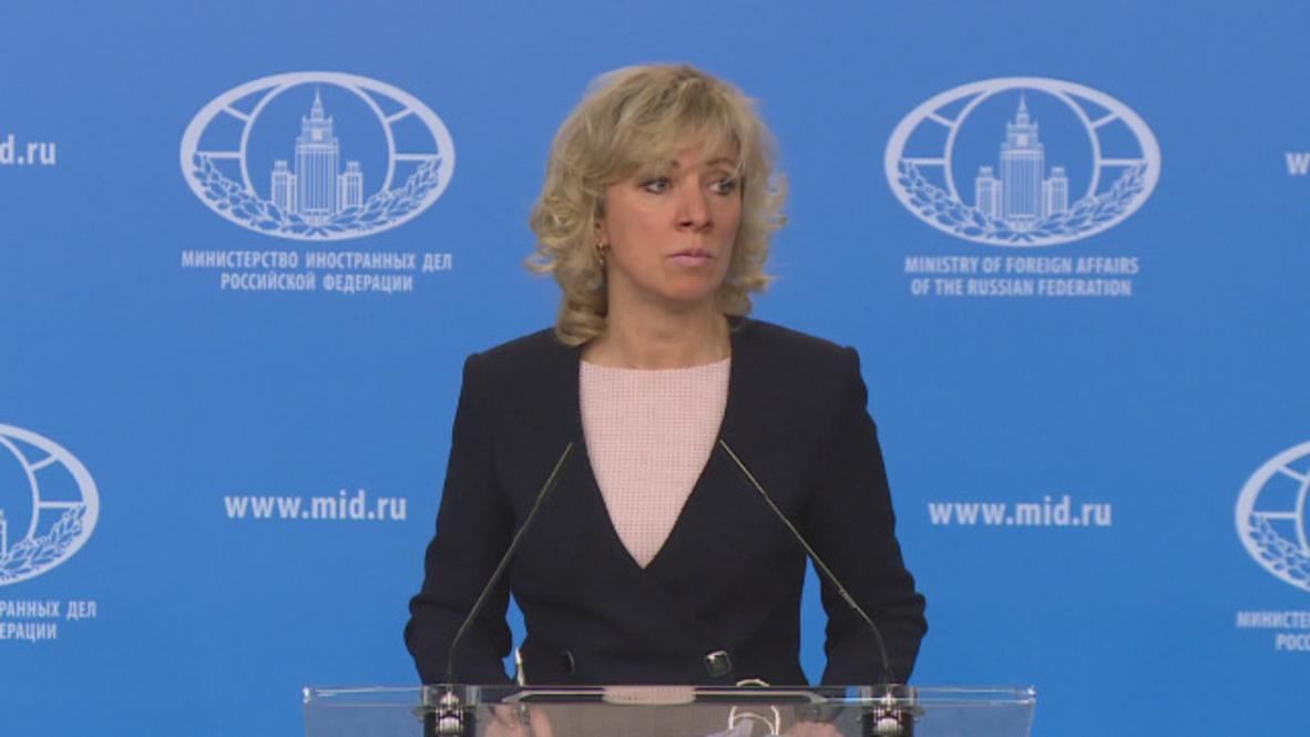 """Rusia: Zajárova promete """"represalias"""" por la expulsión de los diplomáticos rusos del Reino Unido"""