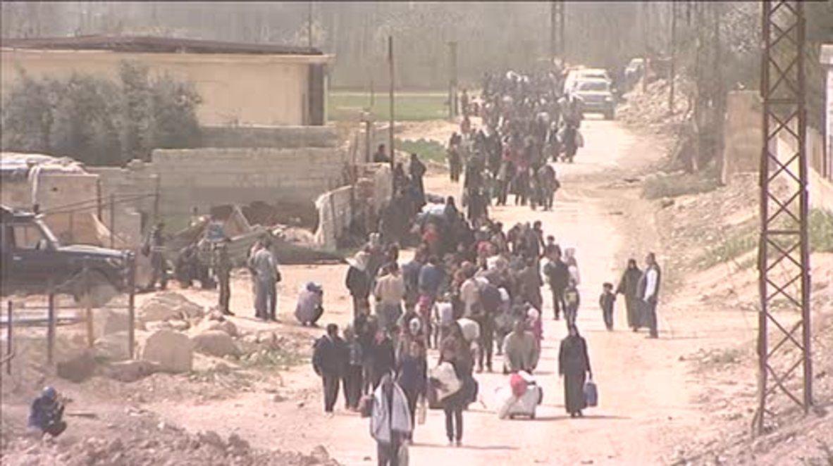 Syria: Mass civilian evacuation underway in Eastern Ghouta