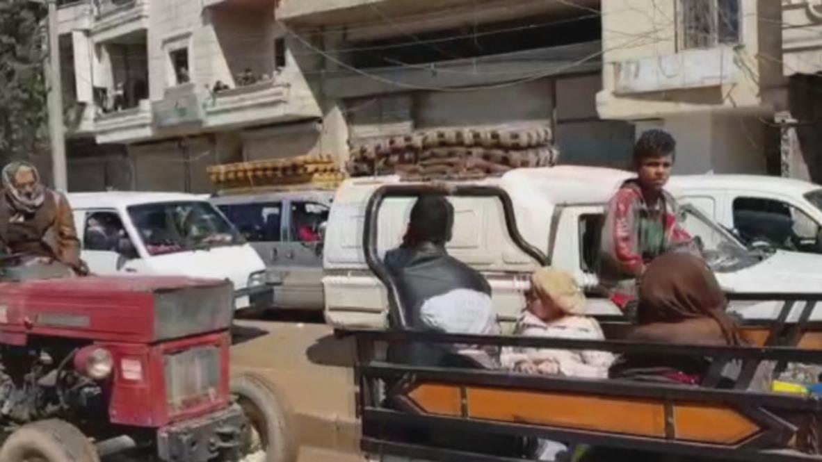 Siria: Civiles abandonan Afrín tras el ataque turco
