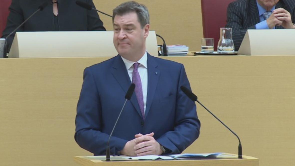 Germany: Soder ushered in as new Bavarian Minister President in Munich