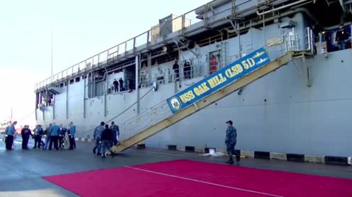 Georgia: US Navy warship docks in Batumi port