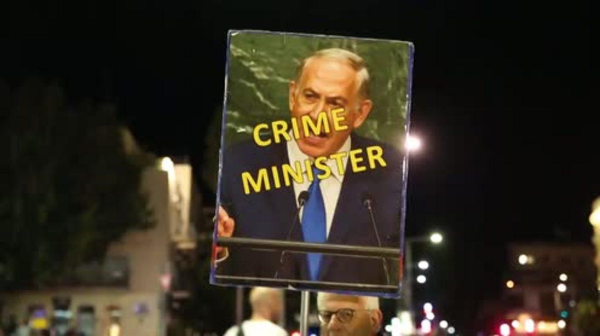 Israel: 'Crime Minister' - Protesters demand Netanyahu's resignation