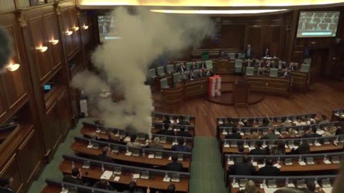 Serbia: Tear gas halts vote on Montenegro border demarcation