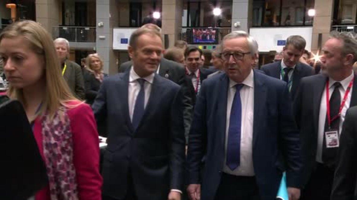 Belgium: Tusk vows 'additional measures' against Russia