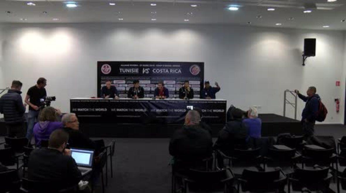 Francia: Túnez y Costa Rica se preparan para el Mundial con un partido amistoso en Niza