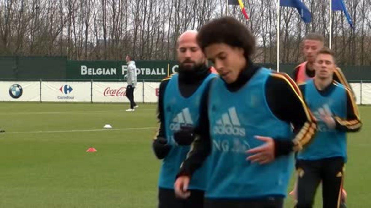 Belgium: De Bruyne and Hazard stretch legs for Saudi Arabia clash