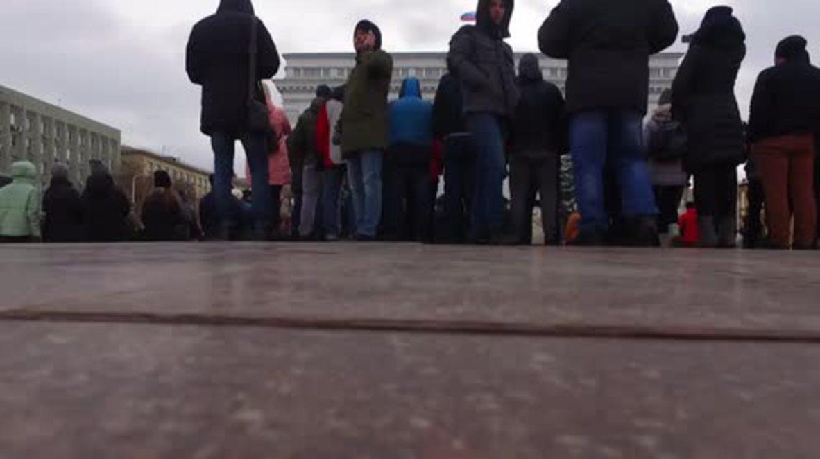 Rusia: Imágenes de drones capturan concentración de los ciudadanos por el incendio mortal de Kemerovo