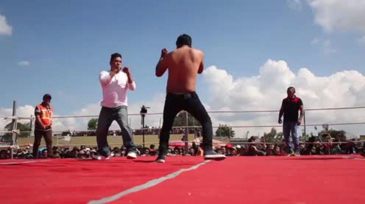 "Guatemala: Celebran un evento denominado ""Pelea a puño limpio"""