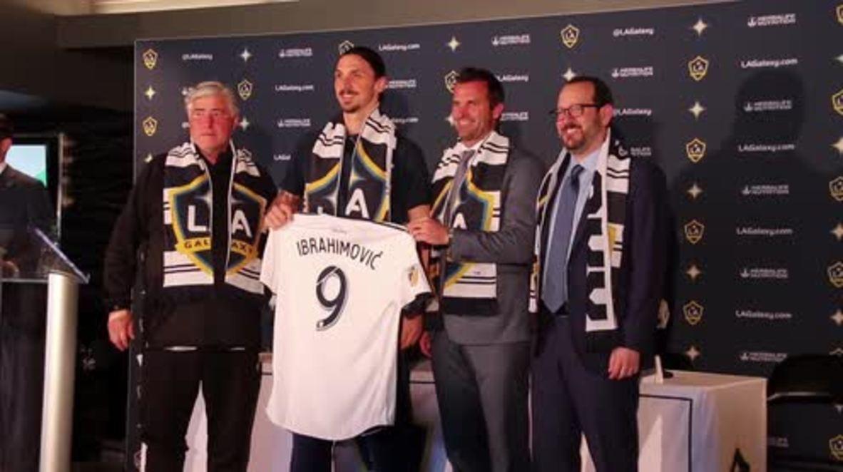 USA: Zlatan presented as new LA Galaxy player