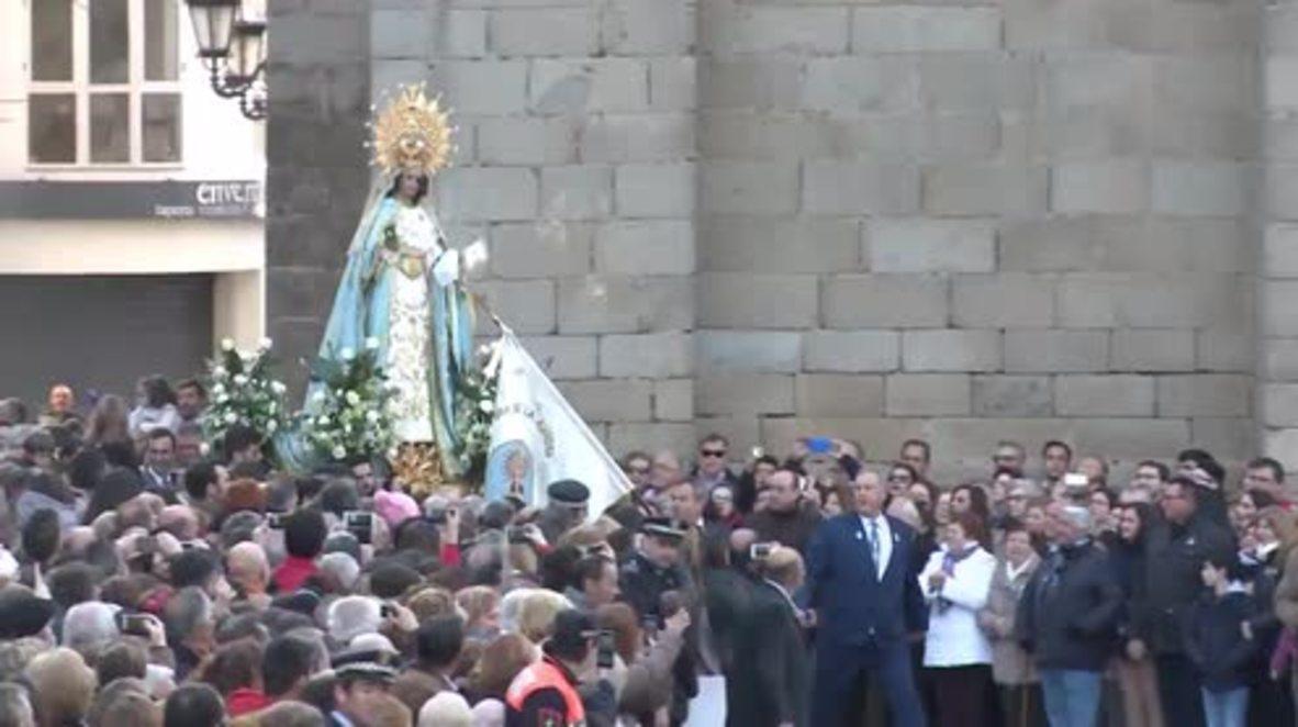 """España: Virgen de la Aurora y el Cristo Resucitado participan en """"La Carrerita"""" en Badajoz"""