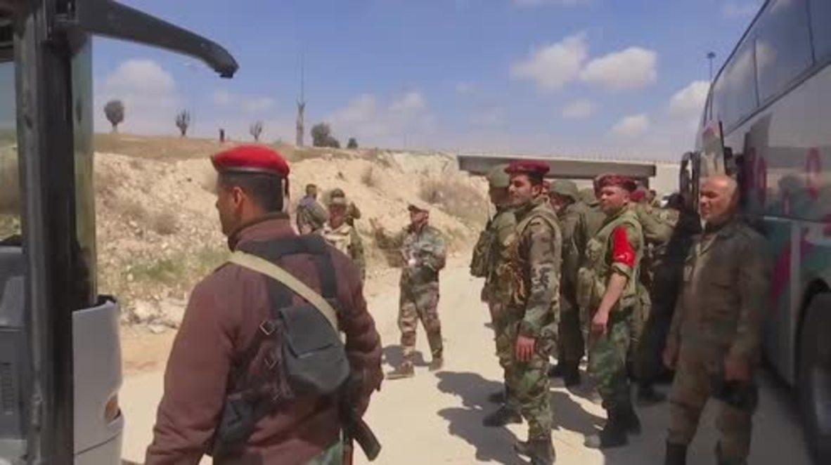 Siria: Rebeldes sirios abandonan último bastión en Guta Oriental