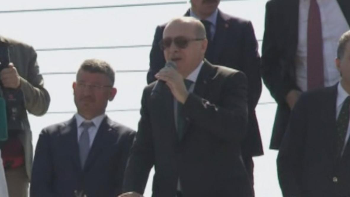 Turkey: Erdogan dubs Israel 'terror state' following deadly Gaza rally