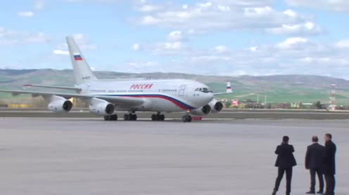 Turkey: Putin lands in Ankara for talks with Turkish and Iranian counterparts