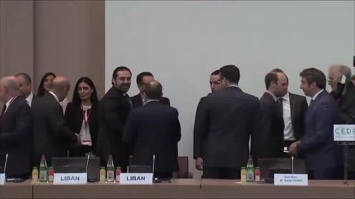 France: Lebanese PM Hariri kick off CEDRE conference in Paris