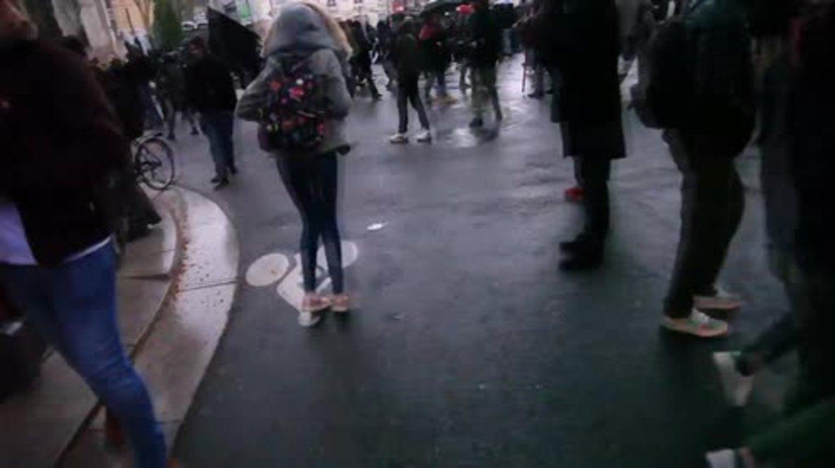 Francia: La policía lanza gas lacrimógeno para dispersar a los miles de manifestantes en contra del desalojo de los ocupantes de ZAD