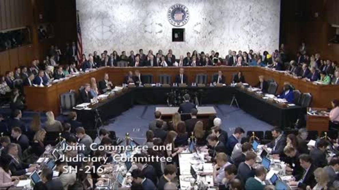 USA: Facebook's Zuckerberg testifies to Senate over data scandal