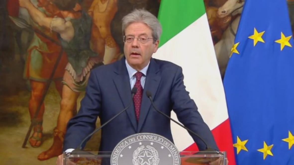"Italia: Italia no atacará ""directamente"" a Siria - Primer ministro Gentiloni sobre los ataques aéreos sobre Siria"