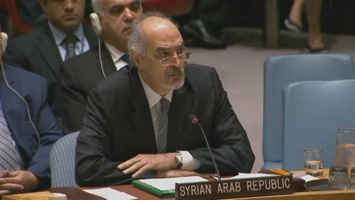 UN: Syria strikes 'message' for terrorists to continue - Bashar Jaafari