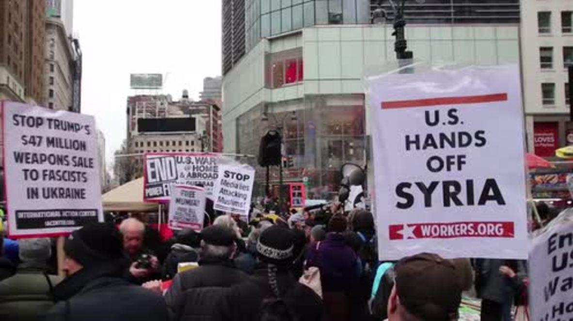 USA: 'Hands off Syria!' - Anti-war demo decries US-led strikes on Syria