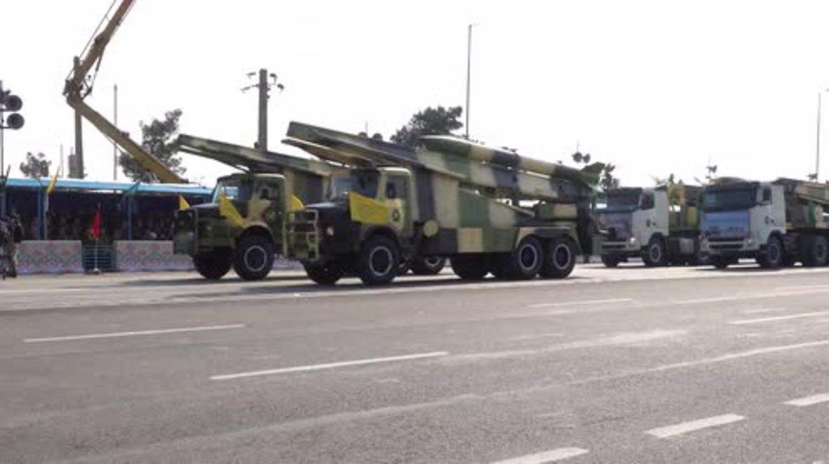 Iran: Defiant Rouhani showcases military might during Tehran parade