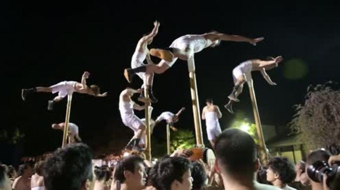 Japón: Celebran festival de Furukawa con carrozas gigantes y tambores