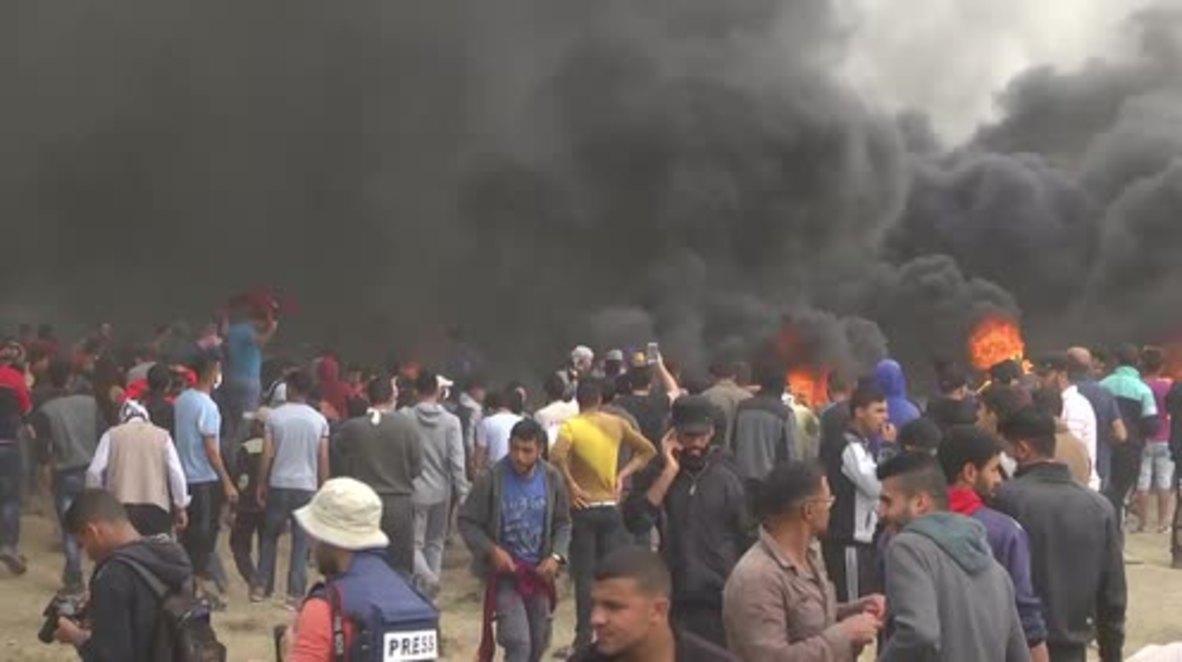 """Estado de Palestina: Continúa aumentando la violencia en la cuarta semana de la """"Marcha del Retorno"""