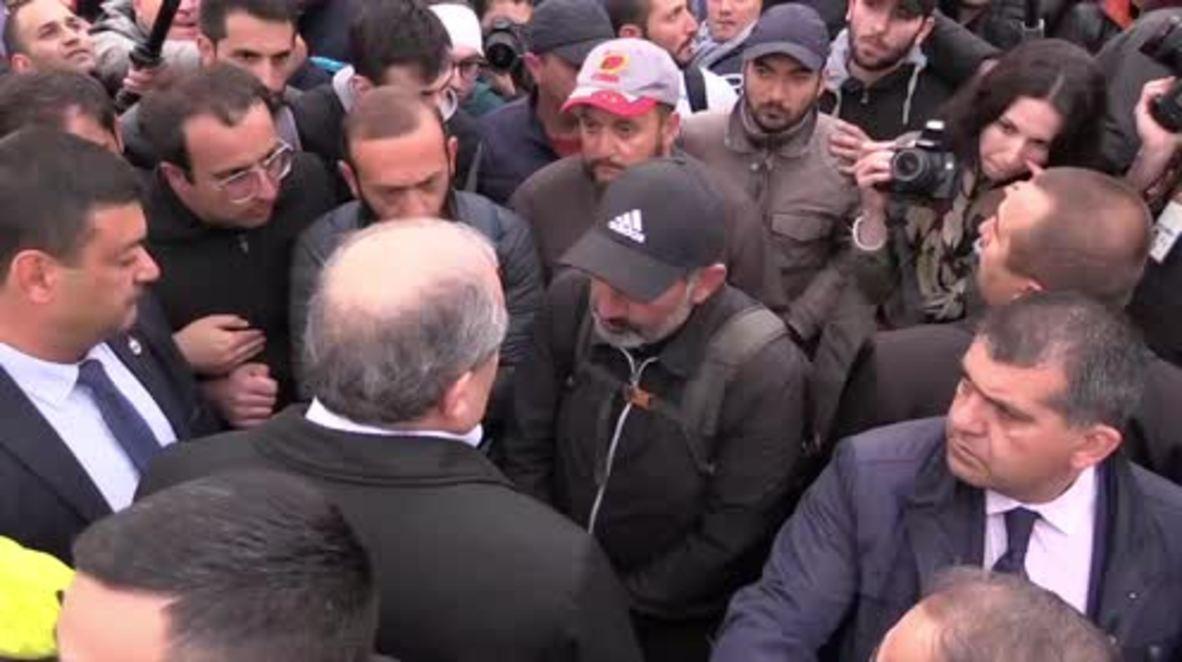 Armenia: Manifestantes bloquean las calles de Ereván durante el noveno día de protestas