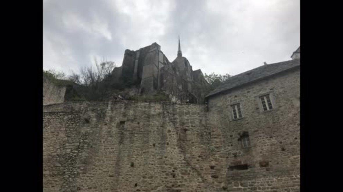 France: Mont-Saint-Michel tourist site evacuated after man threatens police *STILLS*