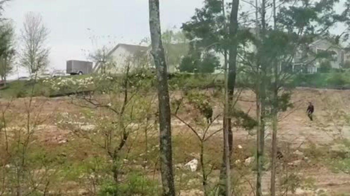 USA: Manhunt underway after naked gunman kills four near Nashville