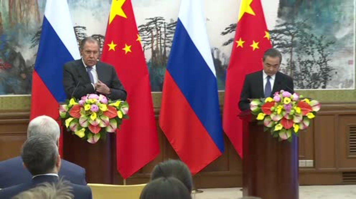 China: Lavrov says US-led strikes 'disrupt' OPCW investigation