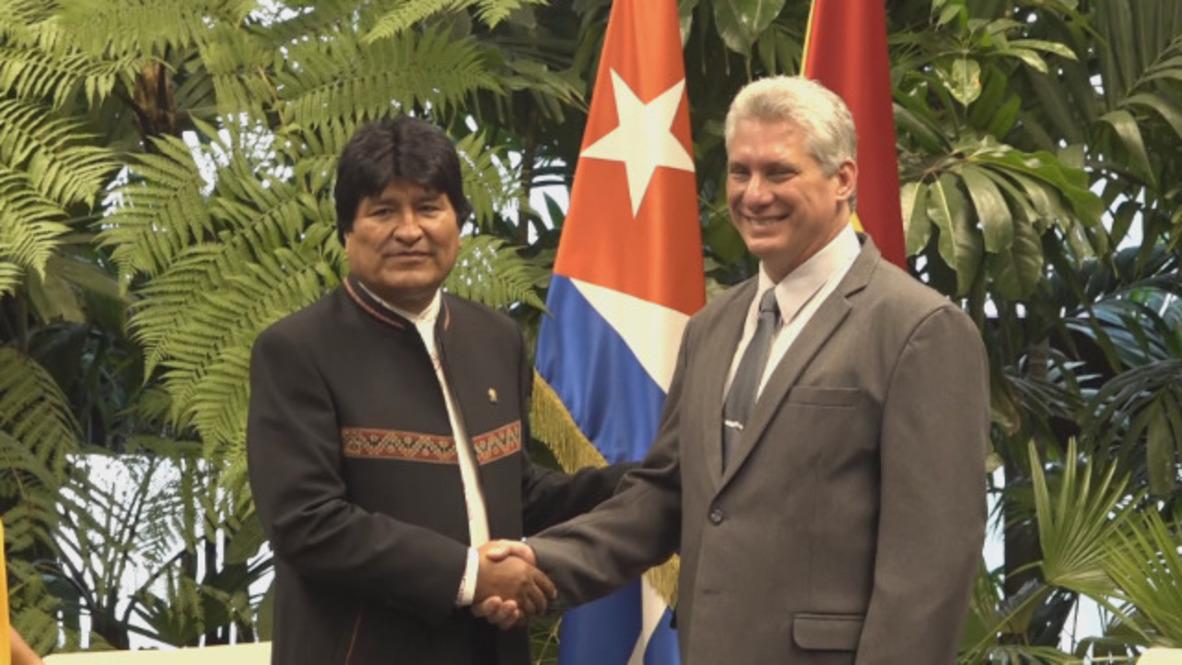 Cuba: Bolivian President Evo Morales starts official visit to Havana