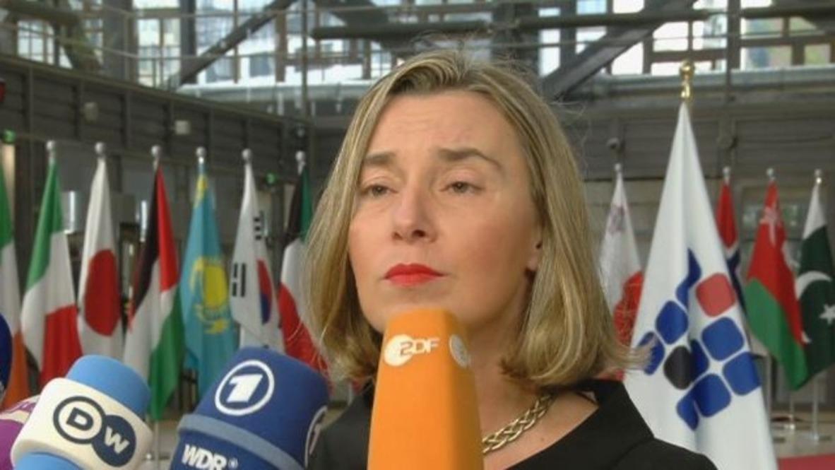 """Bélgica: Mogherini dice que el acuerdo nuclear con Irán """"está en vigor"""
