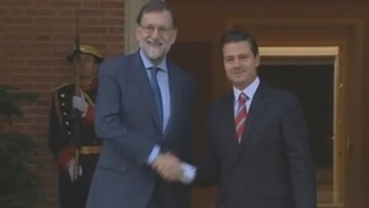 España: El presidente Rajoy recibe al presidente mexicano Enrique Peña Nieto en Madrid