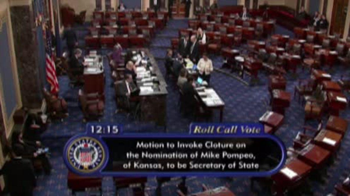 EE.UU.: El Senado confirma a Pompeo como Secretario de Estado
