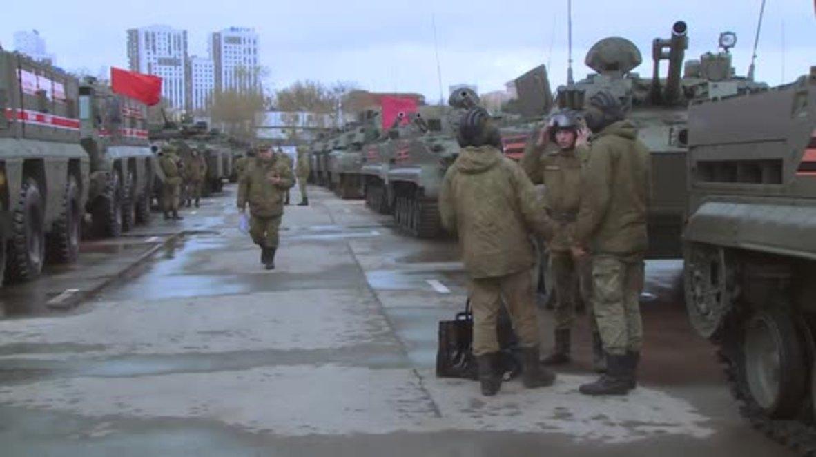 Rusia: Moscú organiza el primer ensayo del desfile del Día de la Victoria 2018