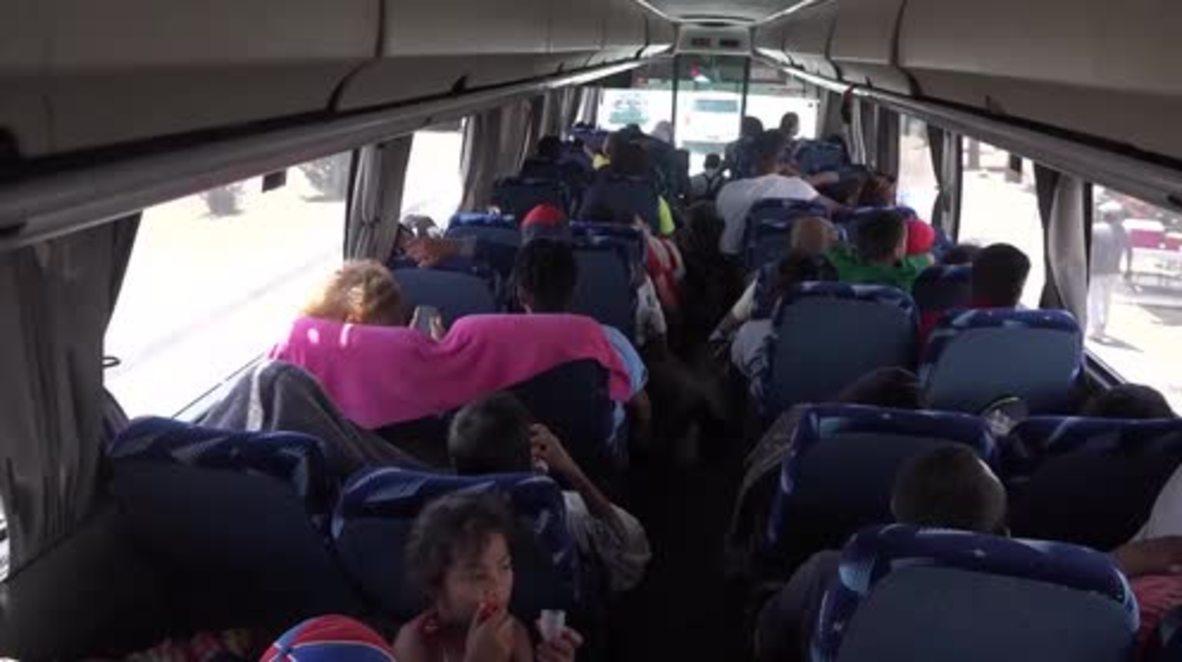 México: Últimos 150 solicitantes de asilo llegan a la frontera con EE. UU. en Tijuana