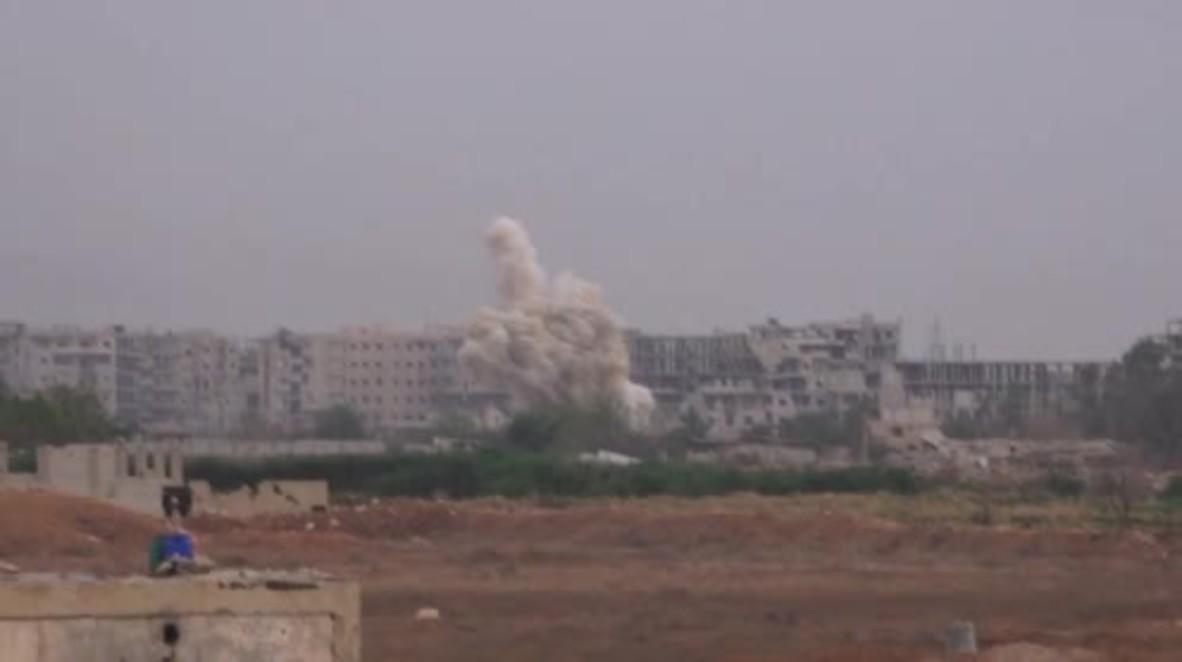 Siria: Ejército árabe sirio ataca las posiciones de Estado Islámico en el sur de Damasco