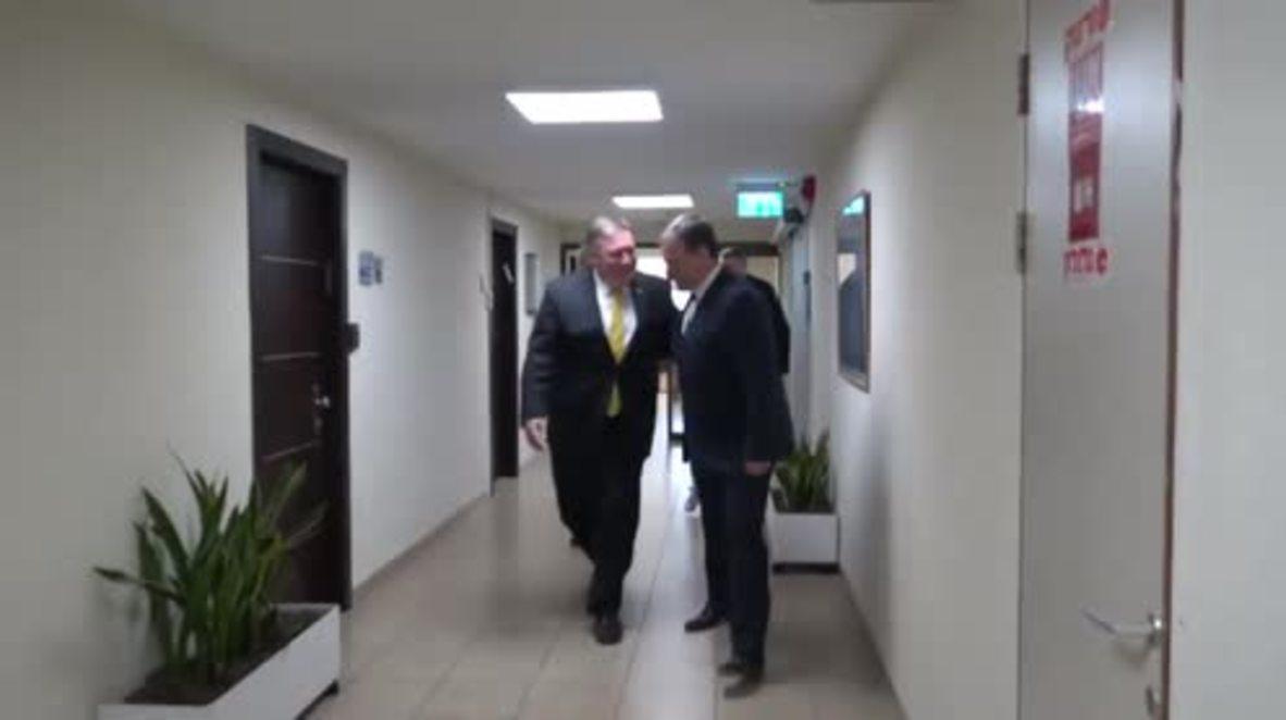 Israel: Netanyahu greets Pompeo in Tel Aviv