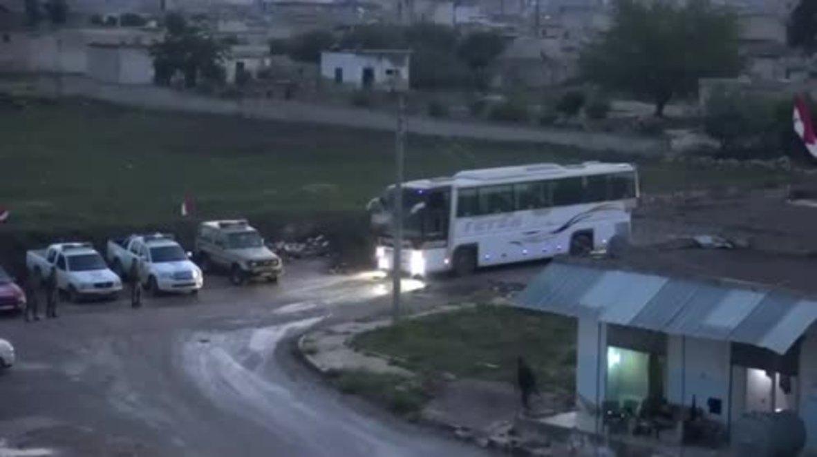 Siria: Convoy de militantes evacuados desde Yarmuk a Idlib