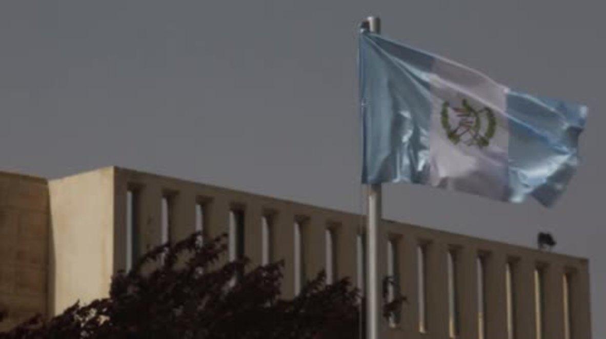 Israel: La embajada de Guatemala iza la bandera en su nueva sede en Jerusalén antes de la inauguración oficial