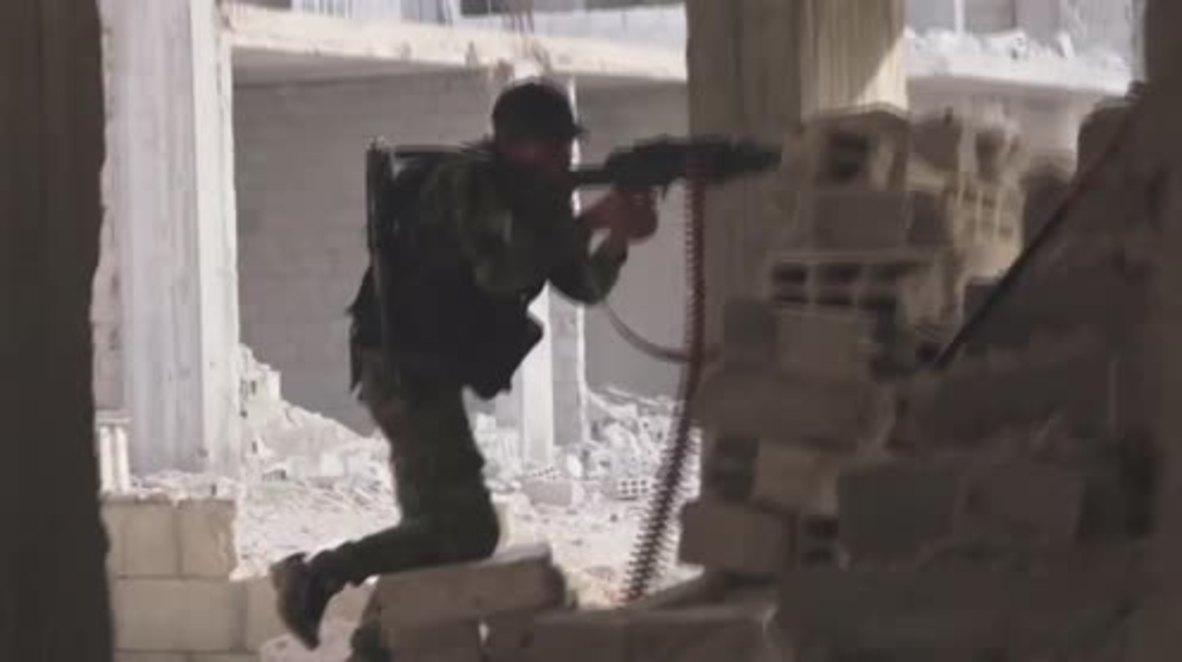 Siria: El Ejército Árabe Sirio rompe en dos una bolsa de resistencia del EI al sur de Damasco