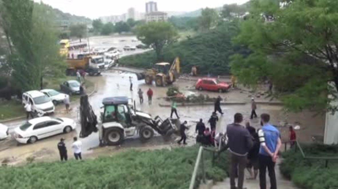 Turquía: 6 heridos tras las inundaciones en Ankara