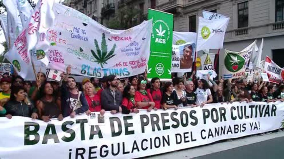 Argentina: Miles de personas marchan exigiendo la legalización del cultivo de marihuana