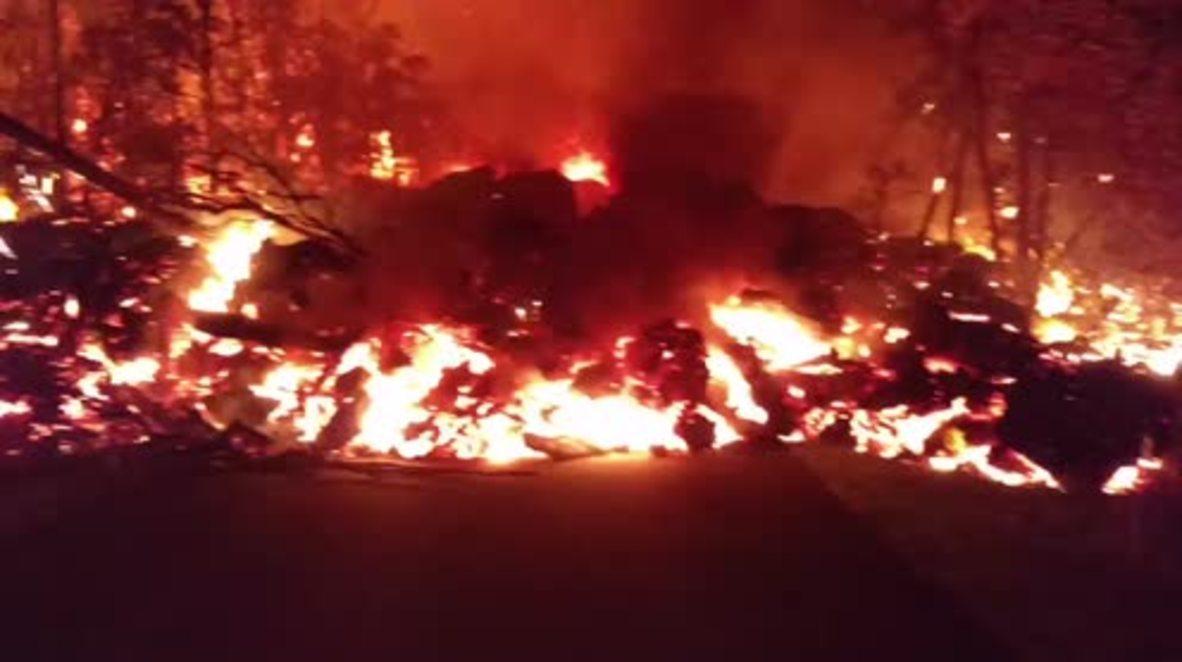 USA: Lava flows continue after Kilauea volcanic eruption