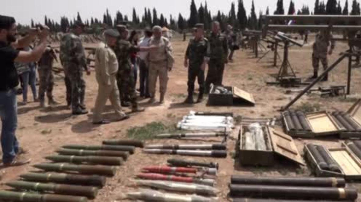 Siria: El Ejército Árabe Sirio se apodera de armas pesadas de combatientes radicales en Homs