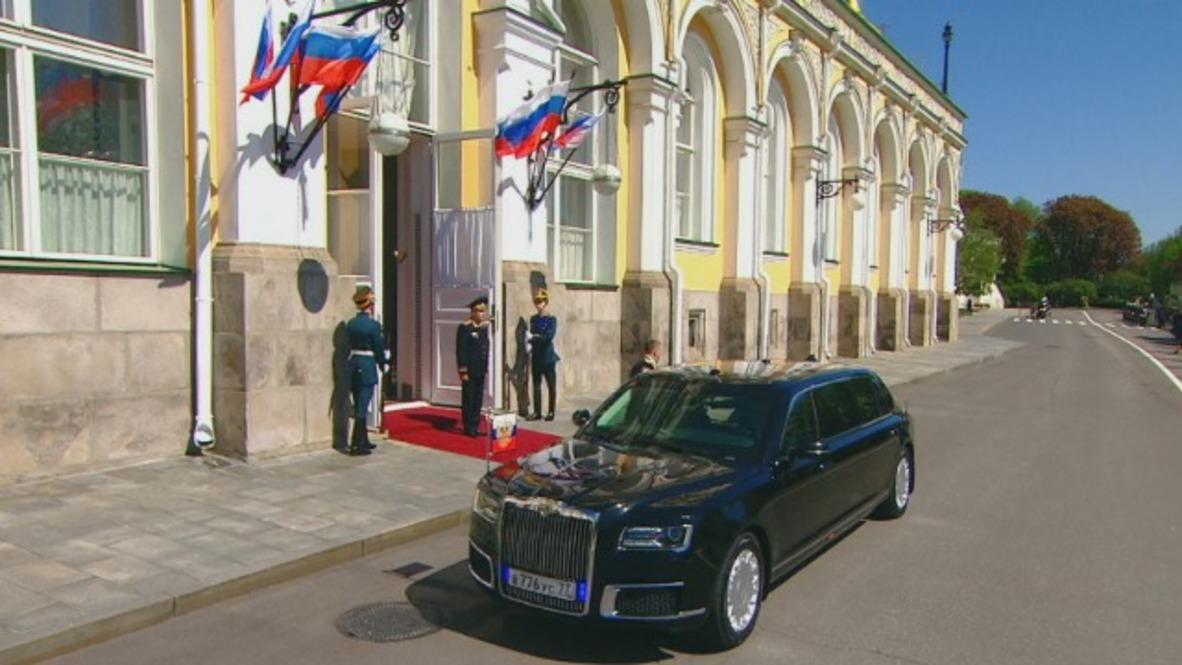 Russia: Putin takes inaugural ride in brand new Cortege limousine