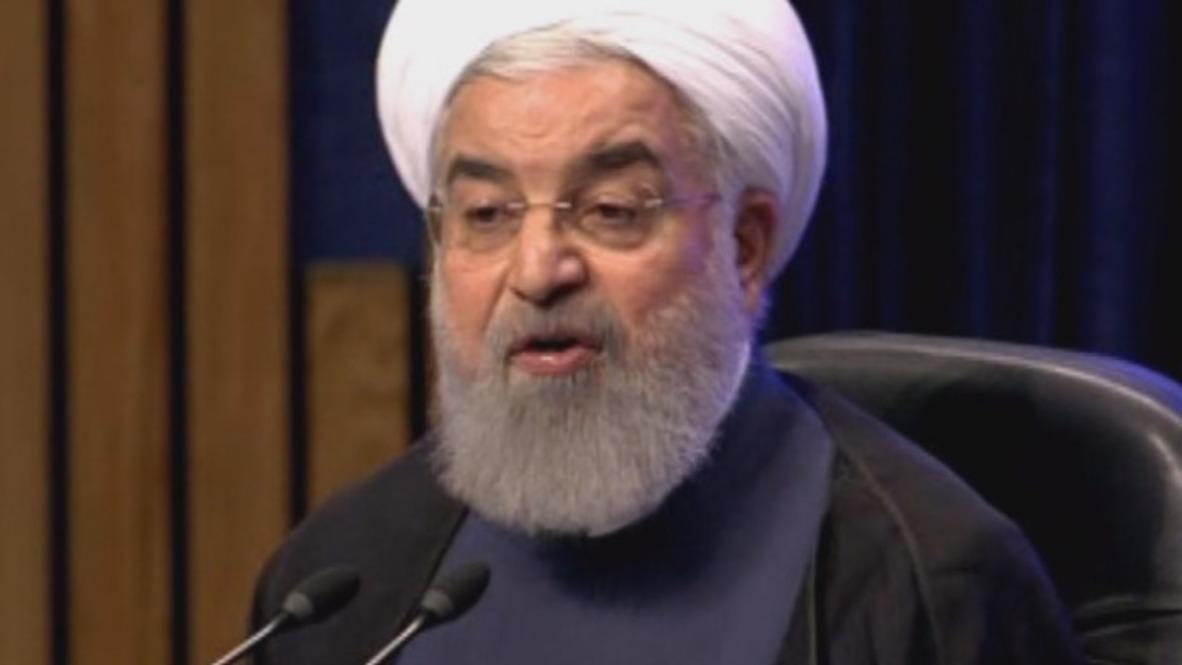 """Irán: La retirada de EE.UU. """"será algo bueno"""" - Rouhani"""