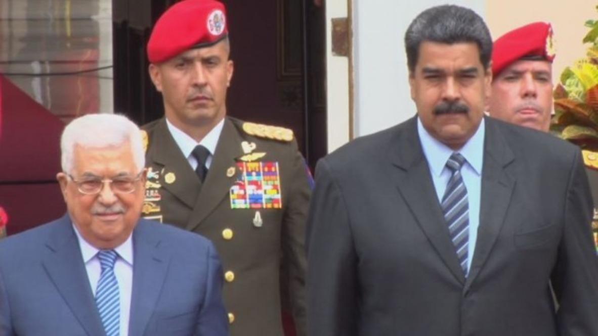 Venezuela: Maduro recibe al presidente palestino, Mahmud Abbas